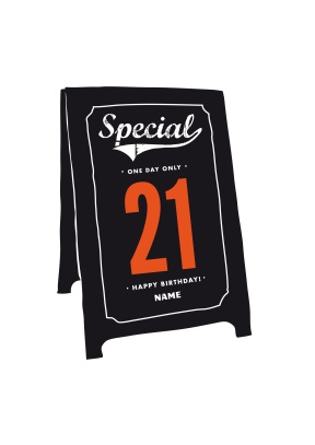Special 21st Sign Birthday Card - 21st gift