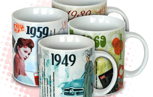 The Classic Years Mug Collection - 50th gift
