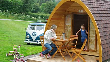 Two Night Camping Pod Break for Two in South Devon - 30th gift