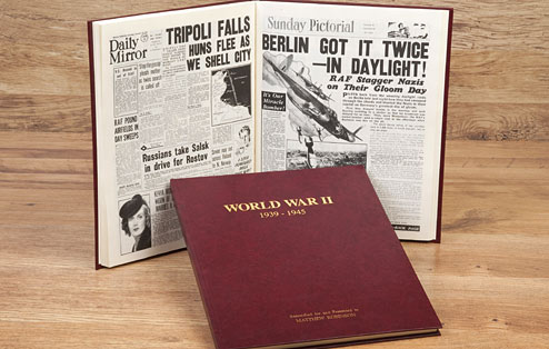 World War II - Newspaper Book - 50th gift