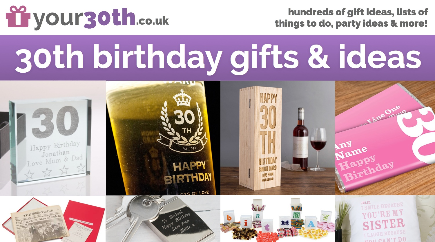 30th Birthday Gifts Ideas